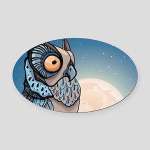 Night Owl Oval Car Magnet