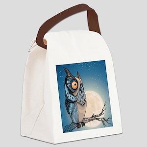 Night Owl Canvas Lunch Bag