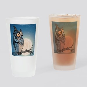 Night Owl Drinking Glass
