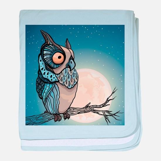 Night Owl baby blanket