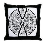 Celtic Knotwork Dragons Throw Pillow
