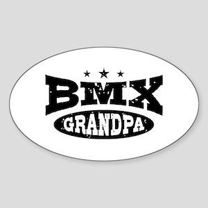 BMX Grandpa Sticker (Oval)