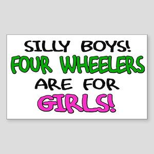 Silly Boys Quads Rectangle Sticker