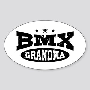 BMX Grandma Sticker (Oval)