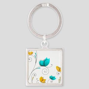 Elegant Flowers Keychains