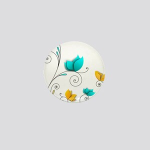 Elegant Flowers Mini Button