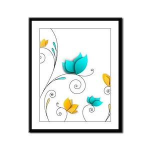 Elegant Flowers Framed Panel Print