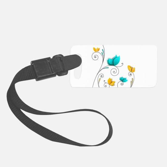 Elegant Flowers Luggage Tag