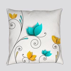 Elegant Flowers Everyday Pillow