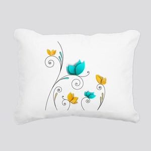 Elegant Flowers Rectangular Canvas Pillow