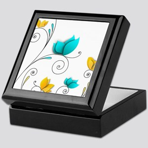 Elegant Flowers Keepsake Box
