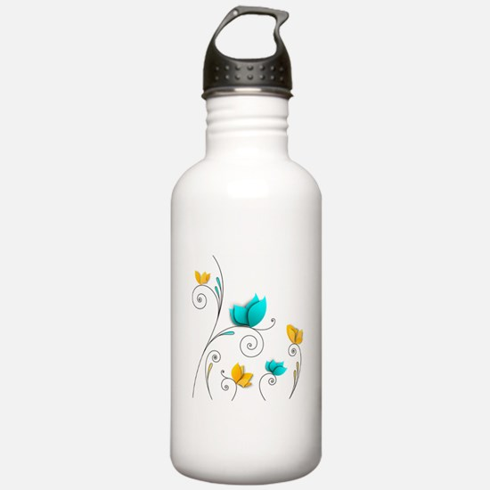 Elegant Flowers Water Bottle
