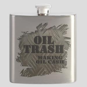 Oilfield Trash Making Oil Cash Corrugated Metal Fl