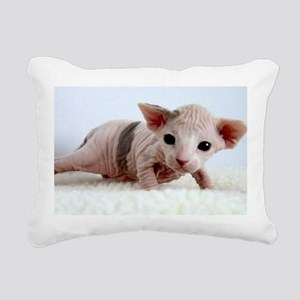 sphynx kitten Rectangular Canvas Pillow