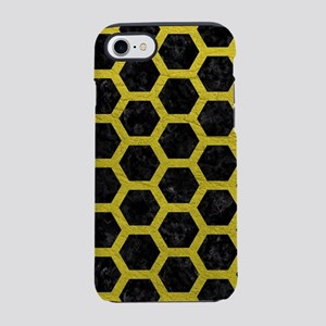HEXAGON2 BLACK MARBLE & YELL iPhone 8/7 Tough Case