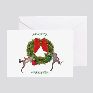 Christmas Froglets Greeting Card