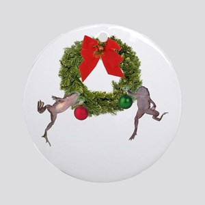 Christmas Froglets Ornament (Round)