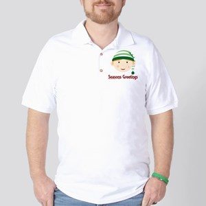 Seasons Greetings Elf Golf Shirt