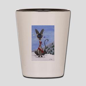Christmas Pine Cone Siamese Shot Glass