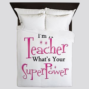 Super Teacher Queen Duvet