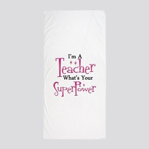 Super Teacher Beach Towel