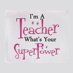 Super Teacher Throw Blanket