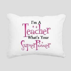 Super Teacher Rectangular Canvas Pillow