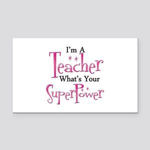 Super Teacher Rectangle Car Magnet