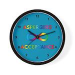Aspergers Acceptance Wall Clock