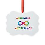 Aspergers Acceptance Picture Ornament