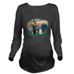 St.Francis #2/ Afghan Hound Long Sleeve Maternity