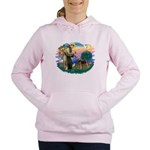 St Francis #2/ Airedale Women's Hooded Sweatshirt