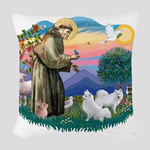 St.Francis #2/ Am Eskimo (2) Woven Throw Pillow