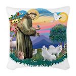 St.Francis #2/ Am Eskimo (2) Woven Throw Pillow