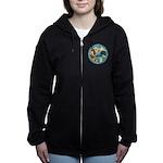 St Francis/Am Eskimo #3 Women's Zip Hoodie