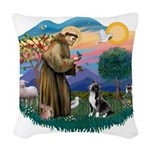 St.Francis #2/ Amer Sta Woven Throw Pillow