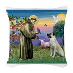 SAINT FRANCIS Woven Throw Pillow