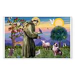 St Francis & Aussie Sticker (Rectangle 10 pk)