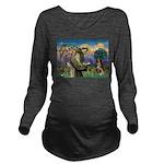 St Francis/ Aus Shep Long Sleeve Maternity T-Shirt