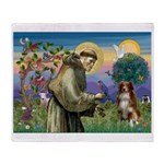 St Francis/ Aus Shep Throw Blanket