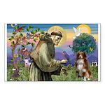 St Francis/ Aus Shep Sticker (Rectangle 10 pk)