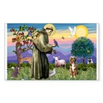 St Francis/Aussie (#5) Sticker (Rectangle 10 pk)