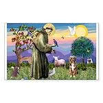 St Francis/Aussie (#5) Sticker (Rectangle)