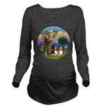 SaintFrancis-Two Bassets Long Sleeve Maternity T-S