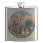 SaintFrancis-Two Bassets Flask
