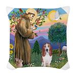 St Francis - Basset3 Woven Throw Pillow