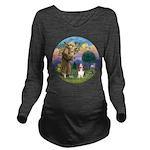 St Francis - Basset3 Long Sleeve Maternity T-Shirt