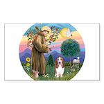 St Francis - Basset3 Sticker (Rectangle)