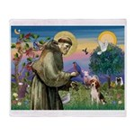 St Francis/Beagle Throw Blanket