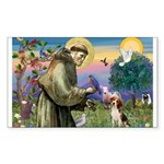 St Francis/Beagle Sticker (Rectangle 10 pk)